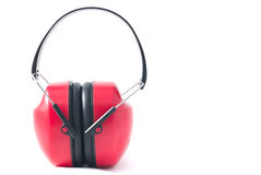 Red earmuffs Royalty Free Stock Image