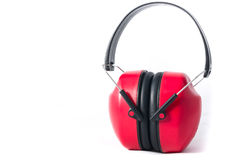 Red earmuffs Royalty Free Stock Photography