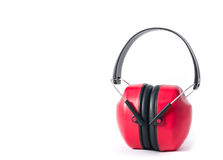 Red earmufs Royalty Free Stock Image