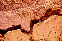 Red earth background with a crack Royalty Free Stock Image