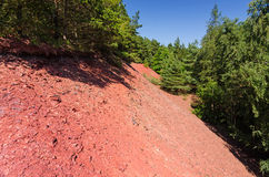 Red earth ground Royalty Free Stock Image