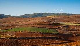 Red earth landscape of dongchuan, yunnan, China stock photography