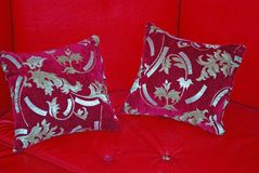 Red east pillows Royalty Free Stock Image