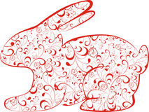 Red easter bunny Royalty Free Stock Images