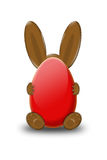 RED Easter bunny Royalty Free Stock Photos