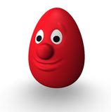 Red easter egg Stock Image