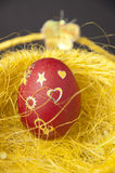 Red Easter egg Stock Photography