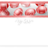 Red easter egg banner background Royalty Free Stock Photos