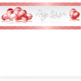 Red easter egg banner folk style background Stock Photos
