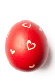 Red Easter Egg with Clipping Path Royalty Free Stock Photography