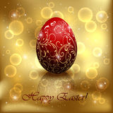 Red Easter egg Stock Photo