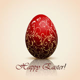 Red decorative Easter egg Royalty Free Stock Photography