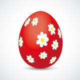 Red Easter Egg Flowers Royalty Free Stock Images