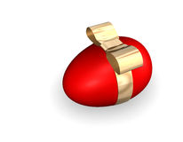 Red Easter Egg With Golden Band Royalty Free Stock Images