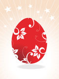 Red Easter egg,  illustration Royalty Free Stock Photo