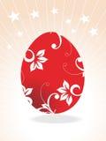 Red Easter egg,  illustration Royalty Free Stock Photo