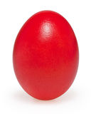 Red easter egg isolated on white Stock Photos