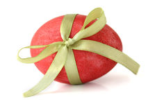 Free Red Easter Egg Tied With A Ribbon Stock Images - 13061514