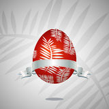 Red easter egg, vector Stock Image