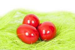 Red Easter egges Royalty Free Stock Photo