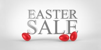 Red easter eggs sale concept Royalty Free Stock Images