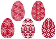 Red easter eggs,  Royalty Free Stock Photo