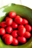 Red easter eggs Stock Image
