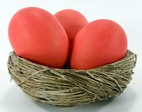 Red Easter Eggs Stock Photos