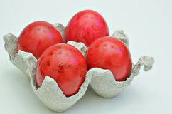 Red  Easter eggs Royalty Free Stock Image