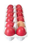 Easter Eggs Carton Royalty Free Stock Image