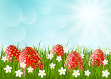 Red Easter eggs Royalty Free Stock Photos