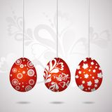 Red easter eggs, vector Stock Photos
