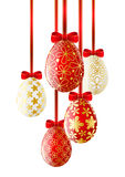 Red Easter eggs on white Royalty Free Stock Photos