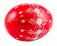 Red Easter romanian traditional egg Royalty Free Stock Image