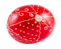 Red Easter romanian traditional egg Stock Photo