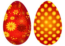 Red Easter`s eggs Royalty Free Stock Photo