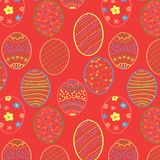 Red Easter Seamless Royalty Free Stock Photography