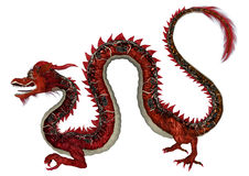Red Eastern Dragon Royalty Free Stock Photography