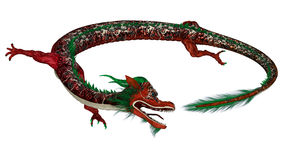Red Eastern Dragon Royalty Free Stock Photos
