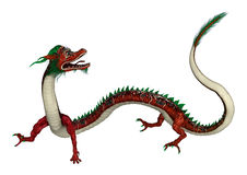Red Eastern Dragon Stock Photo