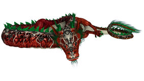 Red Eastern Dragon Stock Image