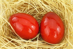 Red eastern eggs Royalty Free Stock Photo