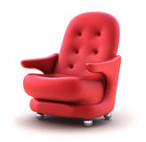 Red Easy chair. Isolated on white Stock Images