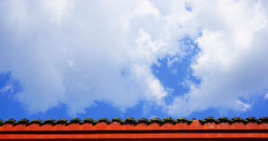 Red eaves in the blue sky background Stock Photography