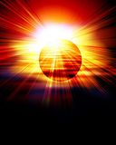 Red eclipse Royalty Free Stock Photos