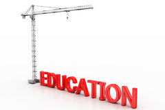 Red Education Text And Crane Royalty Free Stock Photography