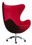 Red egg chair Royalty Free Stock Image