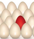 Red Egg concept. Happy Easter seamless background Stock Images