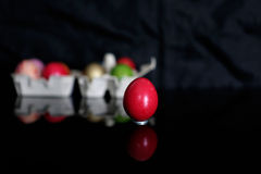 Red egg Stock Images