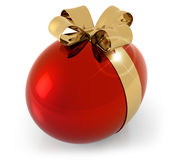 Red egg with golden bow Royalty Free Stock Image